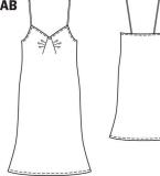 吊带睡衣款式图