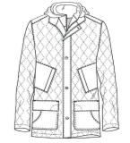 大衣,夹棉大衣,款式图