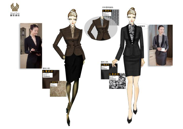 南昌-酒店服装设计工作服作品-南昌-酒店服装设计工作服款式图