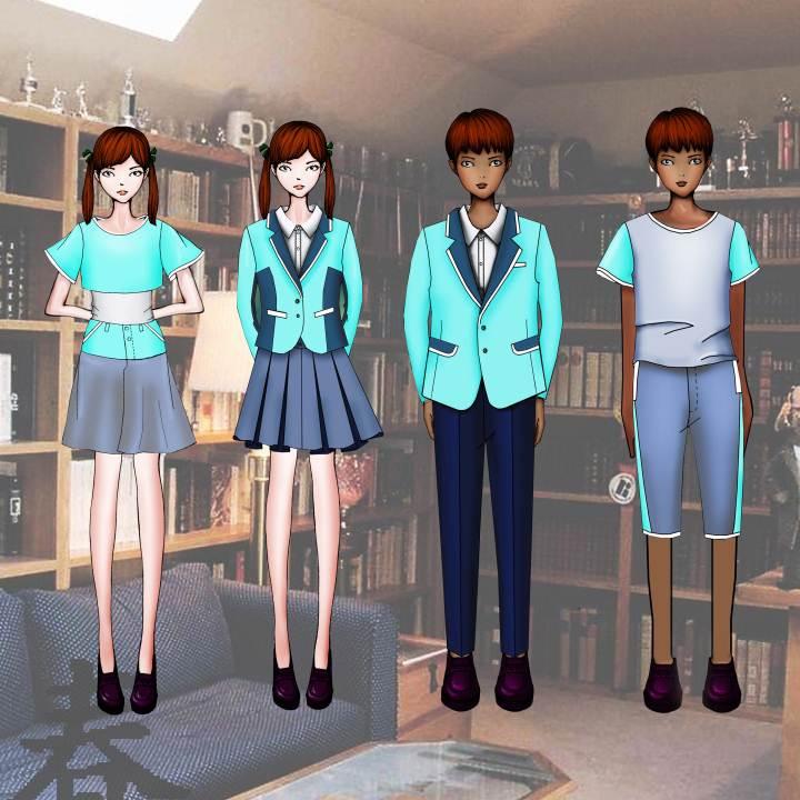 校服作品-校服款式图