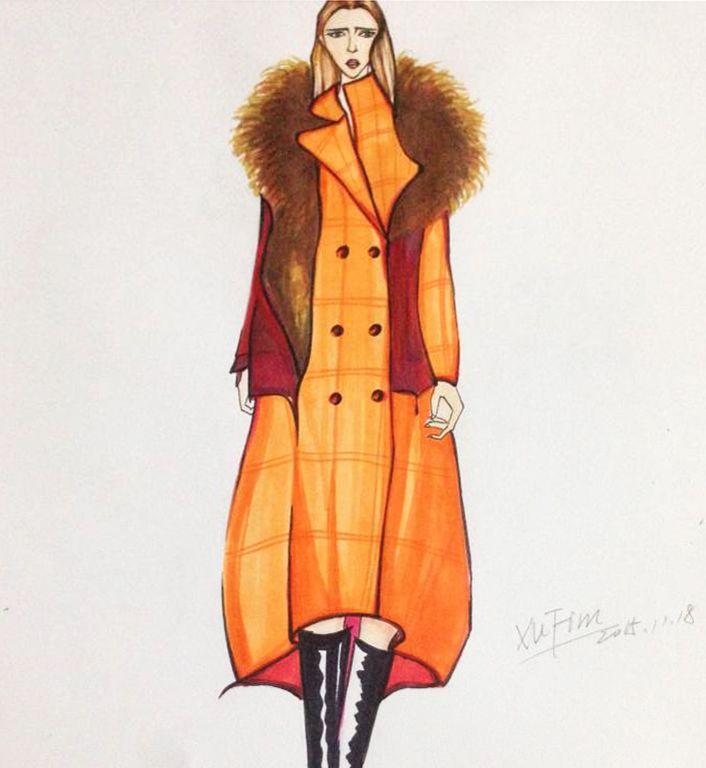 橙色梦想-女装设计-服装设计