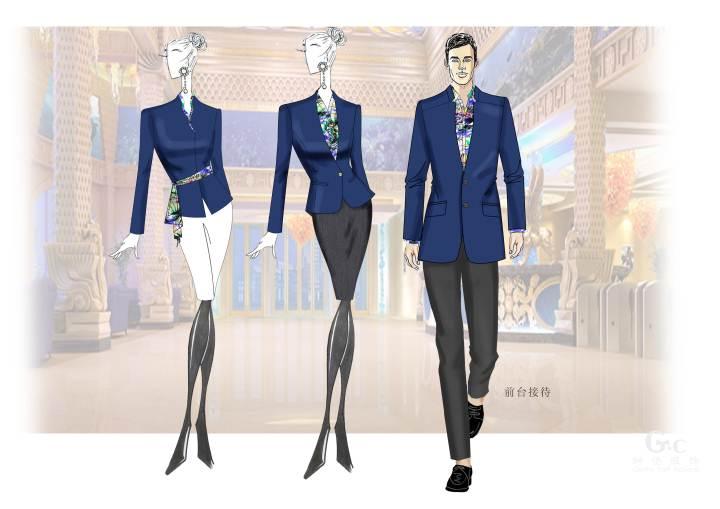 酒店服装/度假酒店工作服-职业服装设计-服装设计