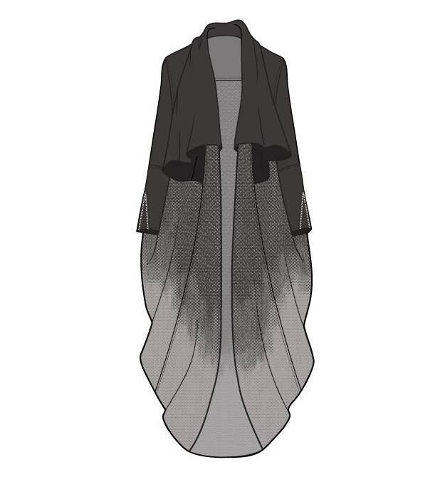 披肩外套作品-披肩外套款式图