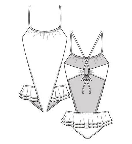 手绘泳装设计图片·