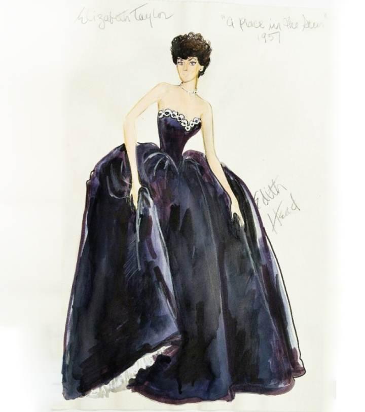 婚纱礼服铅笔画设计图展示