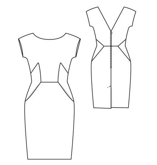 裙子款式圖-女裝設計-服裝設計