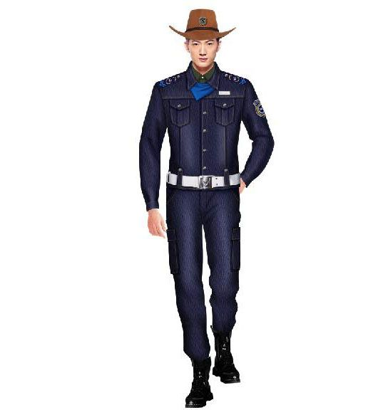西部牛仔风保安服