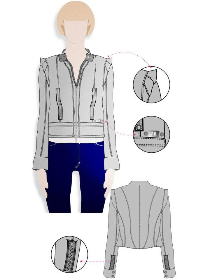夹克作品-夹克款式图