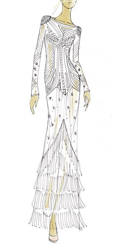 礼服样式手稿-婚纱礼服设计-服装设计