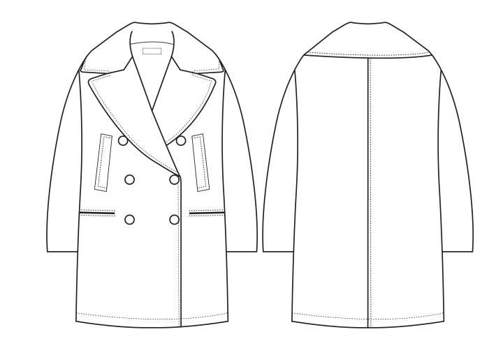 大衣-女装设计-服装设计
