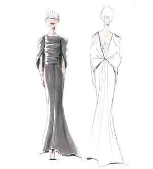 马克笔礼服-婚纱礼服设计-服装设计-服装设计网手机版