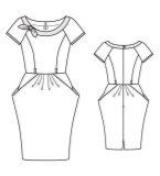 OL连衣裙款式图