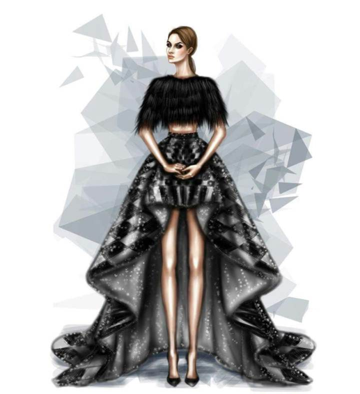 晚礼服插画搜集-婚纱礼服设计-服装设计