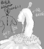 毛茸茸鱼尾婚纱