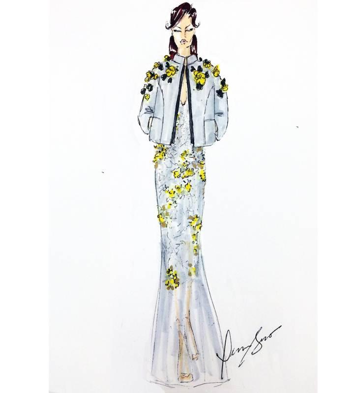 手繪禮服收集-婚紗禮服設計-服裝設計