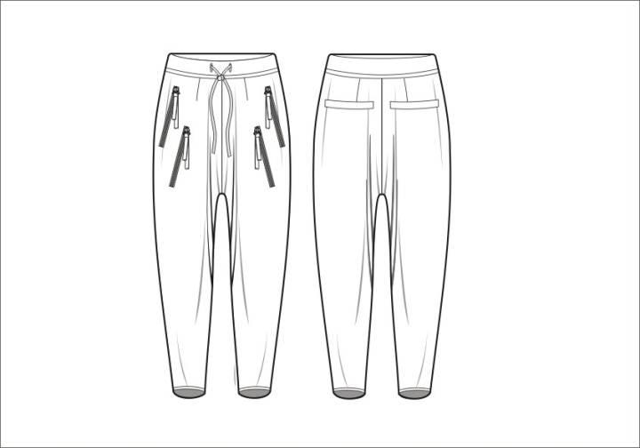 裤子的简笔画画法步骤