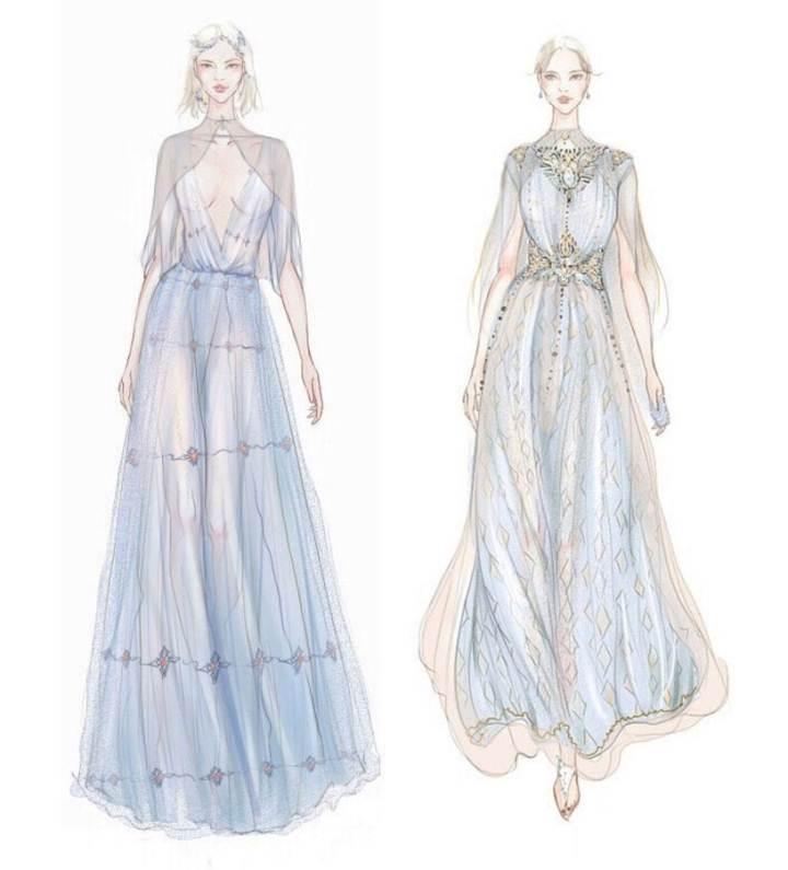 晚礼服作品搜集-婚纱礼服设计-服装设计