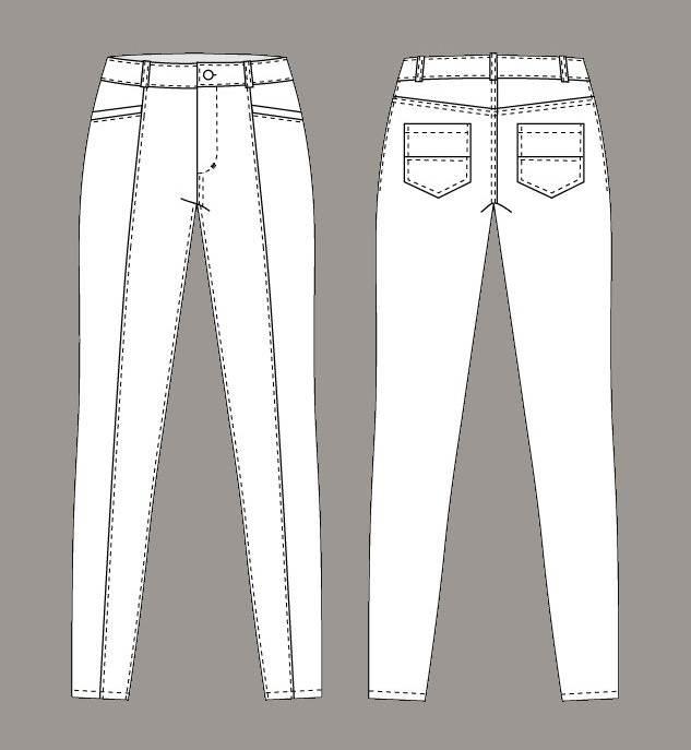 裤子-男装设计-服装设计