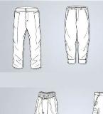 男裤款式图