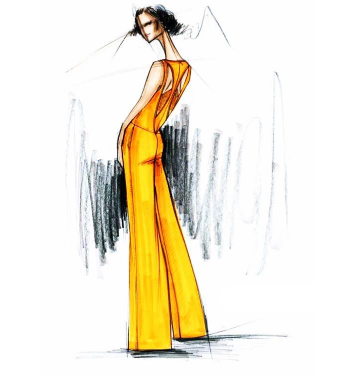 马克笔手稿搜集-女装设计-服装设计