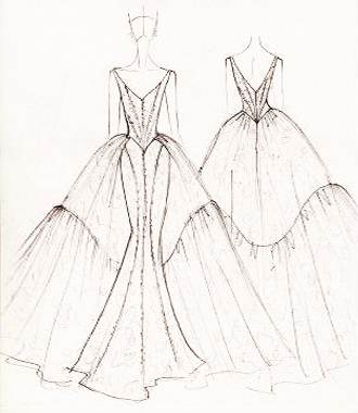 婚纱礼服手稿作品-婚纱礼服手稿款式图
