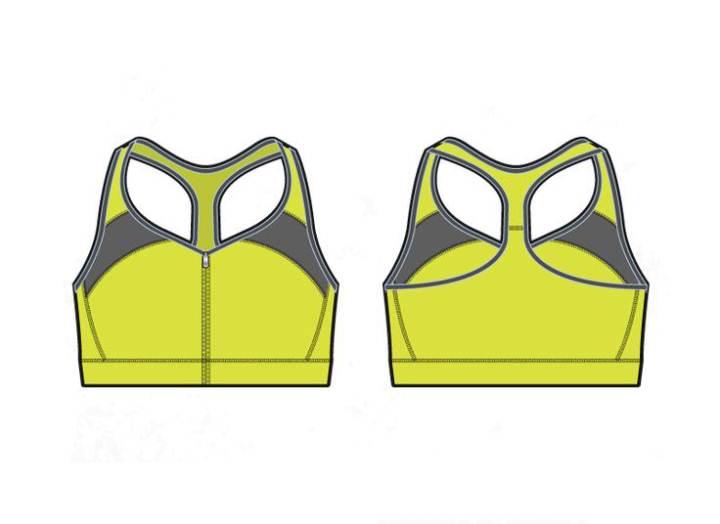 运动背心款式图