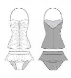 女童泳衣款式图