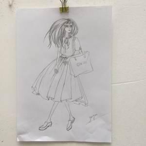 手绘线稿-女装设计-服装设计-服装设计网手机版|触屏