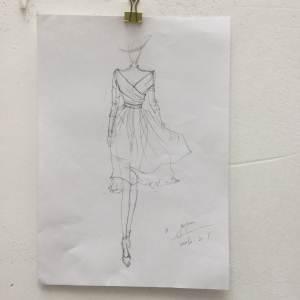 手绘线稿-女装设计-服装设计-服装设计网手机版|触屏版