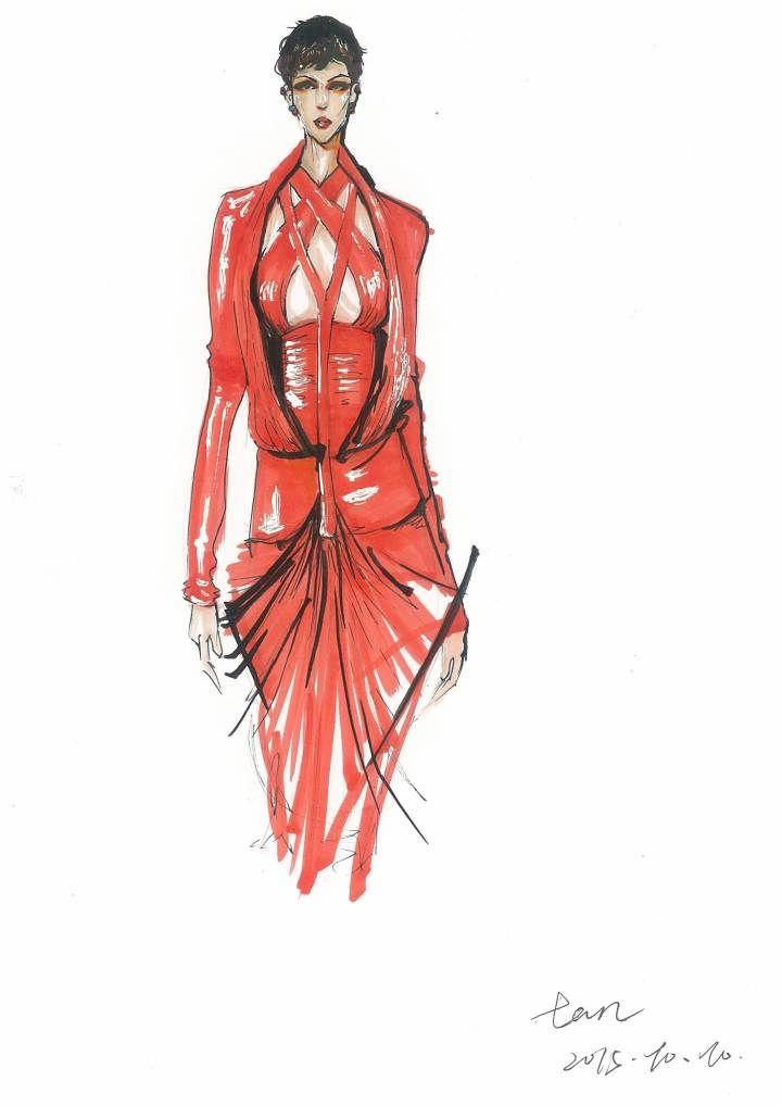 手绘服装-女装设计-服装设计