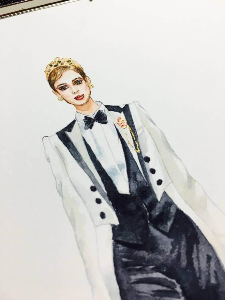 黑白骑士-女装设计-服装设计