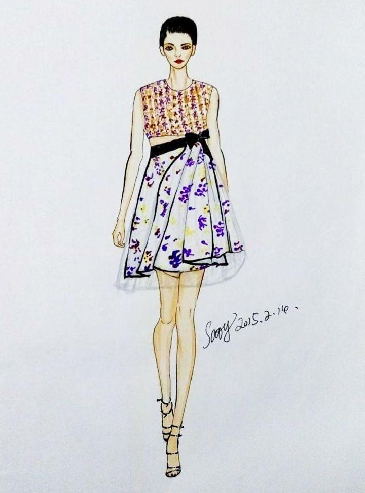 时装裙设计矢量图