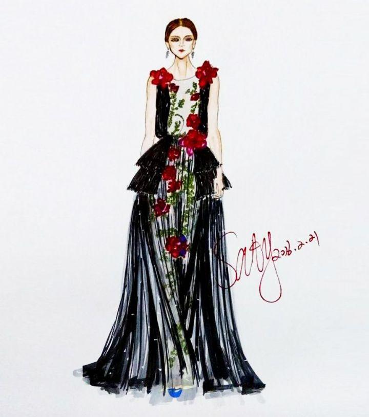 婚纱礼服设计-婚纱礼服设计图-婚纱礼服款式效果图-师