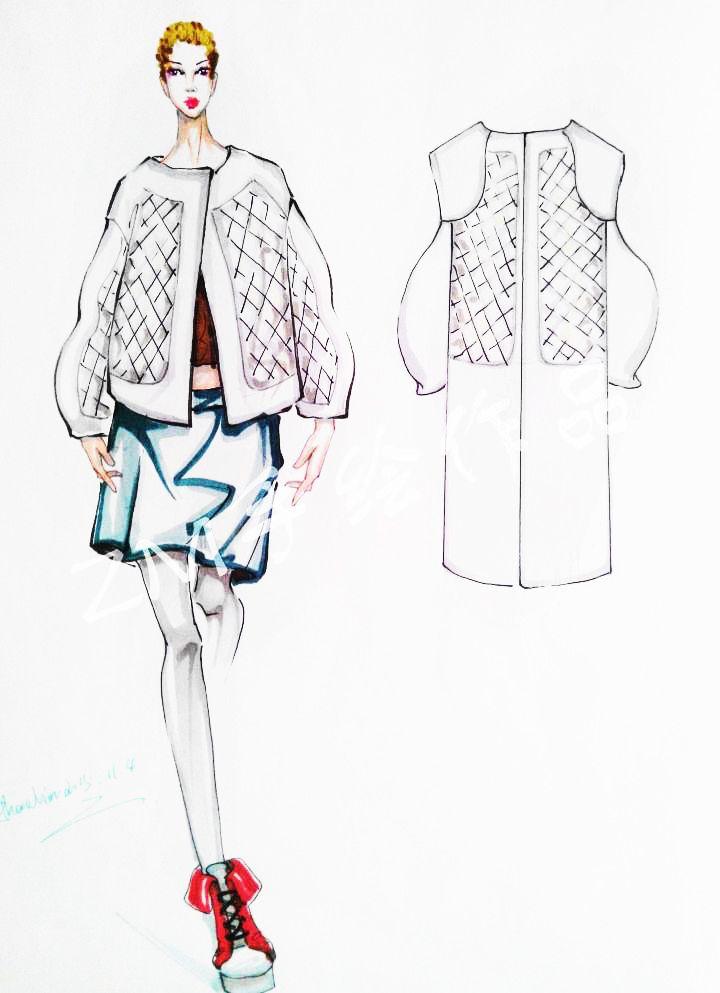 平时手绘-女装设计-服装设计