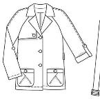 短款大衣款式图