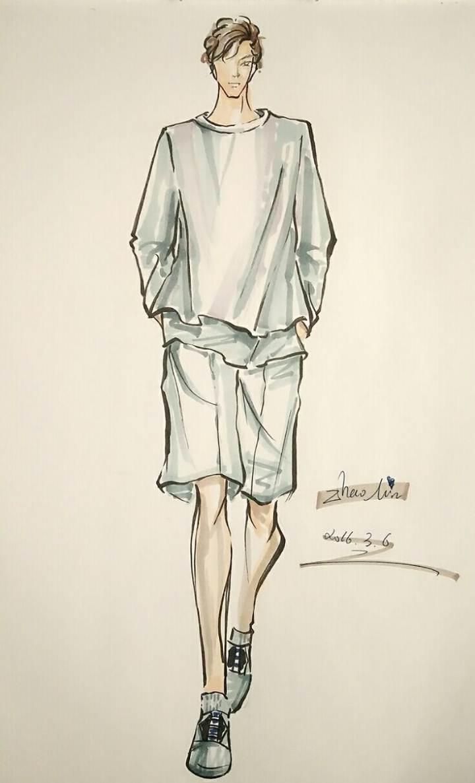 手绘-男装设计-服装设计