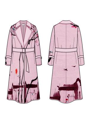大衣款式图-女装设计-服装设计-服装设计网手机版|触