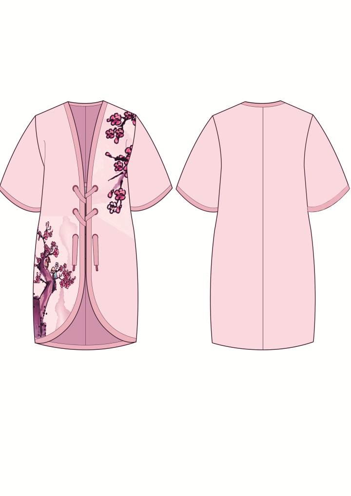 梅花 款式图-女装设计-服装设计