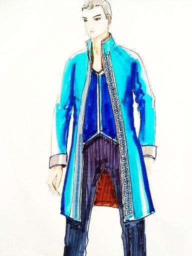 男装大衣款式图-男装设计-服装设计