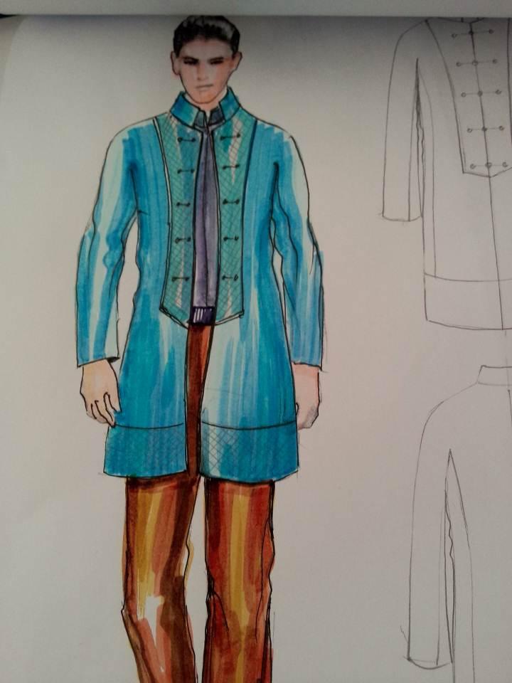馬克筆-男裝設計-服裝設計