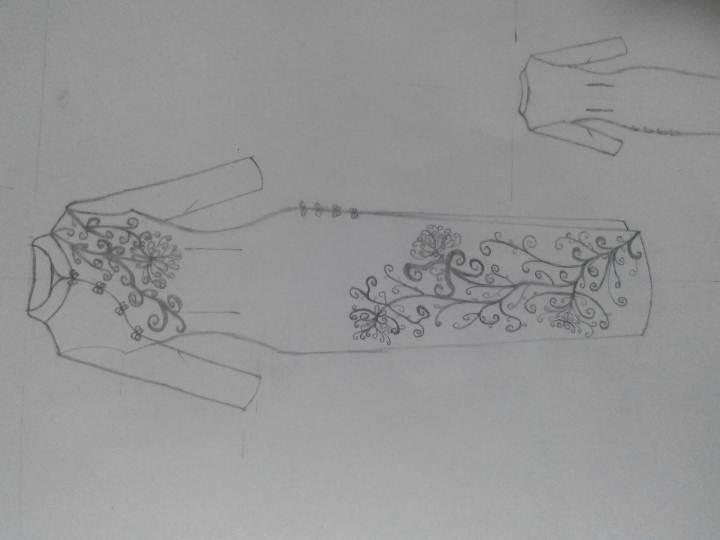 旗袍手绘图片大全