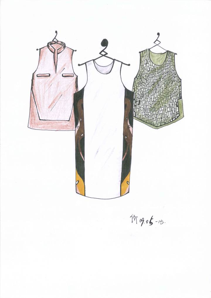 手绘设计稿-女装设计-服装设计
