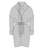 针织大衣款式图
