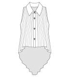 无袖衬衫款式图