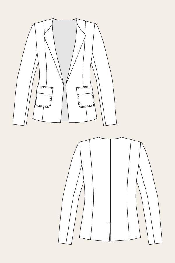 小西装-女装设计-服装设计