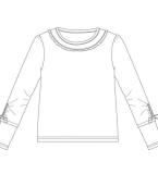 长袖衫款式图