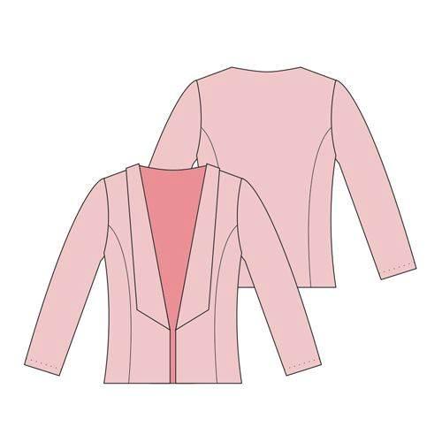 小西装款式图-女装设计-服装设计