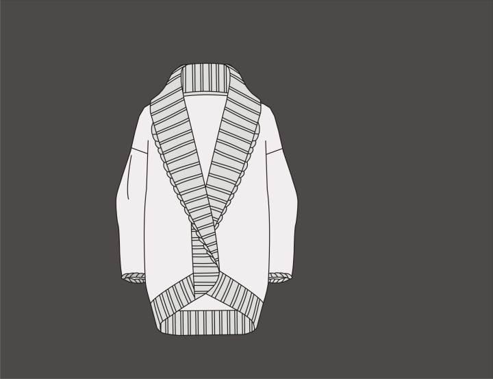针织外套作品-针织外套款式图