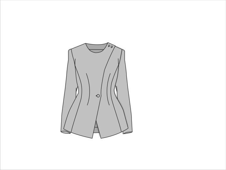 不对称外套-女装设计-服装设计