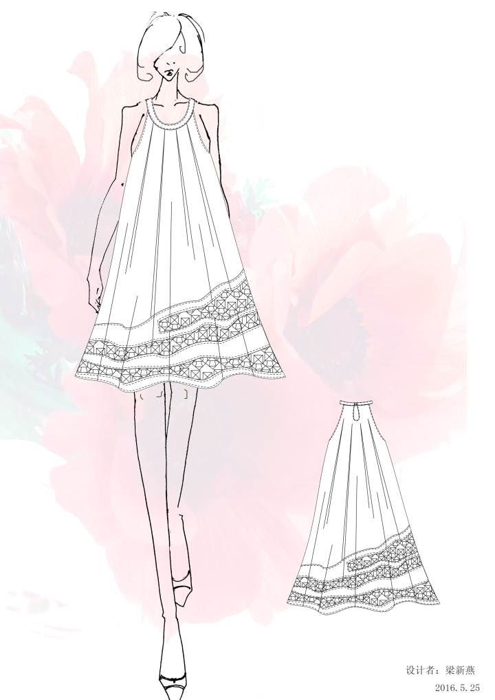裙子简笔画图片大全连衣裙步骤